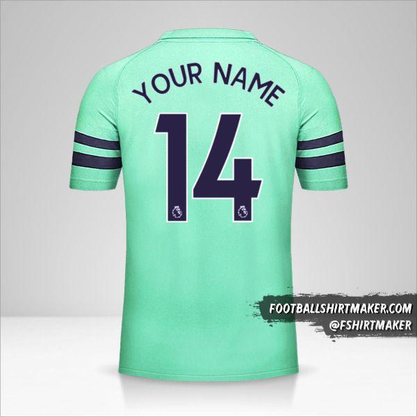 Arsenal 2018/19 III shirt number 14 your name