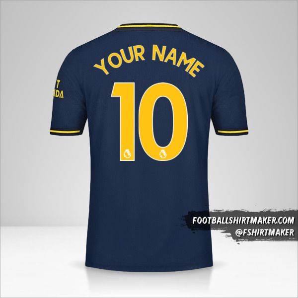 Arsenal 2019/20 III shirt number 10 your name