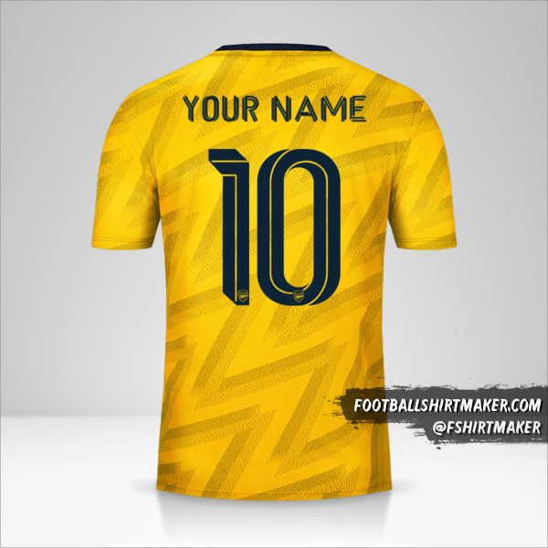 Arsenal shirt 2019/20 Cup II number 10 your name