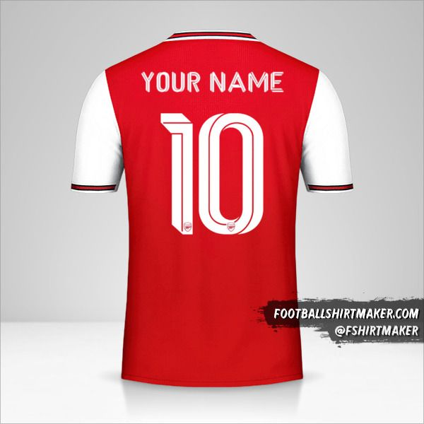 Arsenal shirt 2019/20 Cup number 10 your name