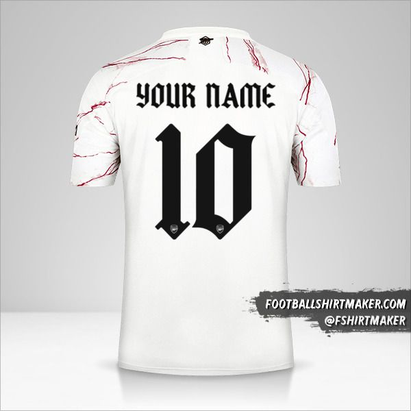 Arsenal 2020/21 Cup II shirt number 10 your name