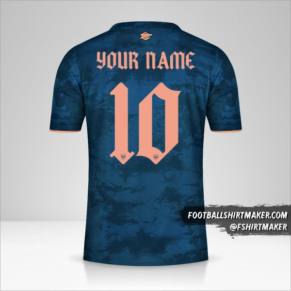 Arsenal 2020/21 Cup III shirt number 10 your name