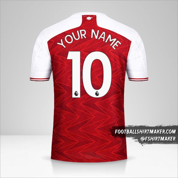 Arsenal 2020/21 shirt number 10 your name