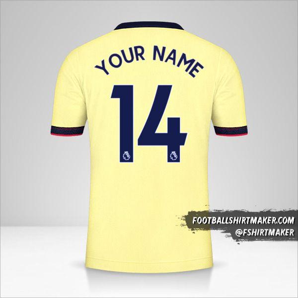 Arsenal 2021/2022 II shirt number 14 your name