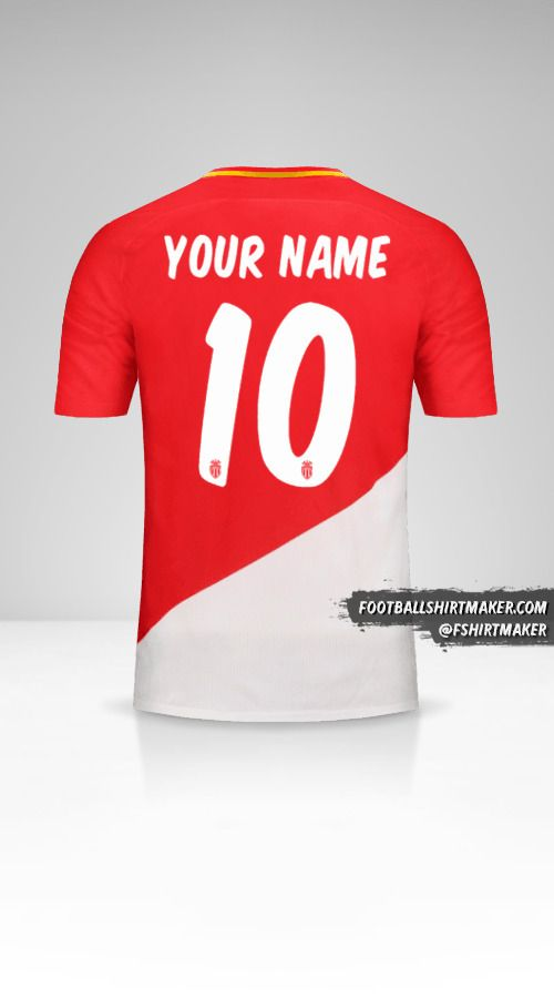 As Monaco 2017/18 Cup shirt number 10 your name