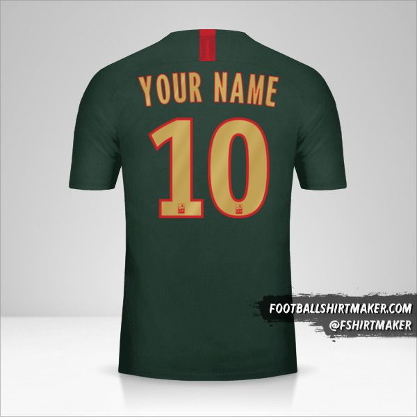 As Monaco 2018/19 II shirt number 10 your name