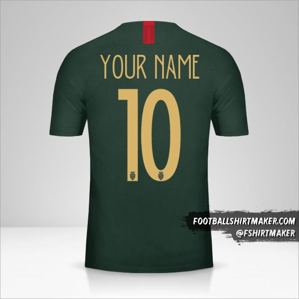 As Monaco 2018/19 Cup II shirt number 10 your name