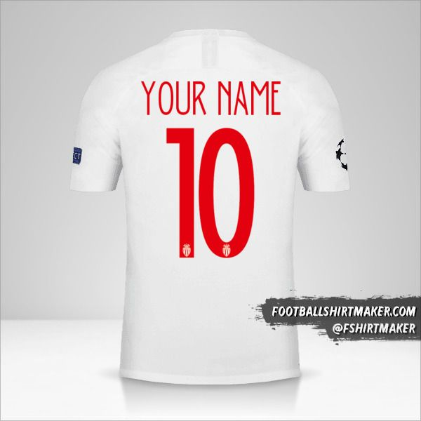 As Monaco 2018/19 Cup shirt number 10 your name