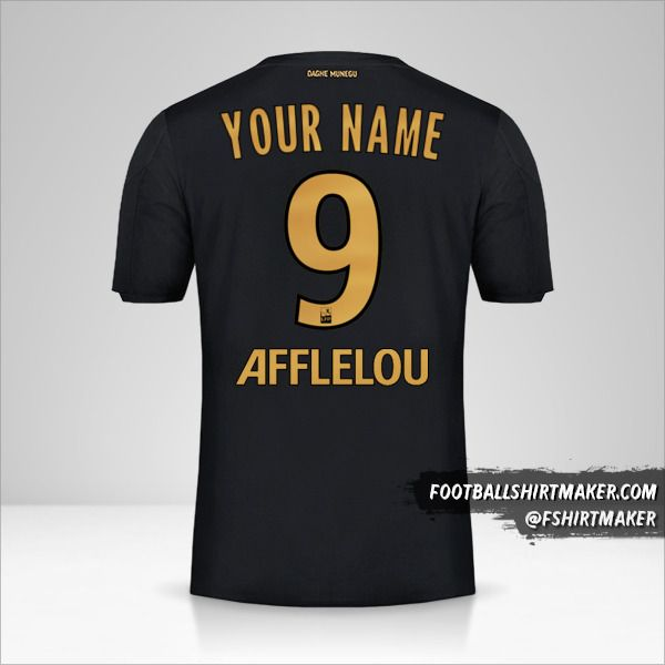 As Monaco 2019/20 II shirt number 9 your name