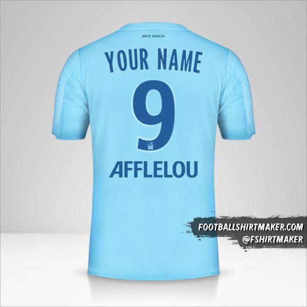 As Monaco 2019/20 III shirt number 9 your name