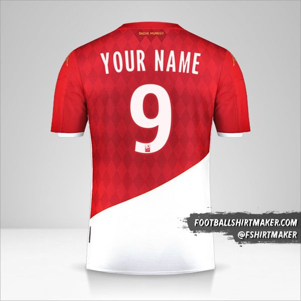 As Monaco 2019/20 shirt number 9 your name