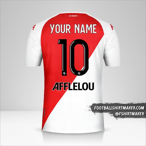 As Monaco 2020/21 shirt number 10 your name