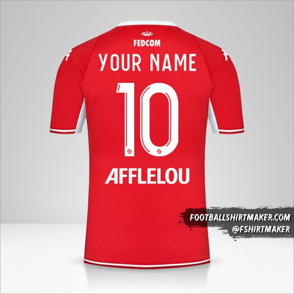 As Monaco 2021/2022 shirt number 10 your name