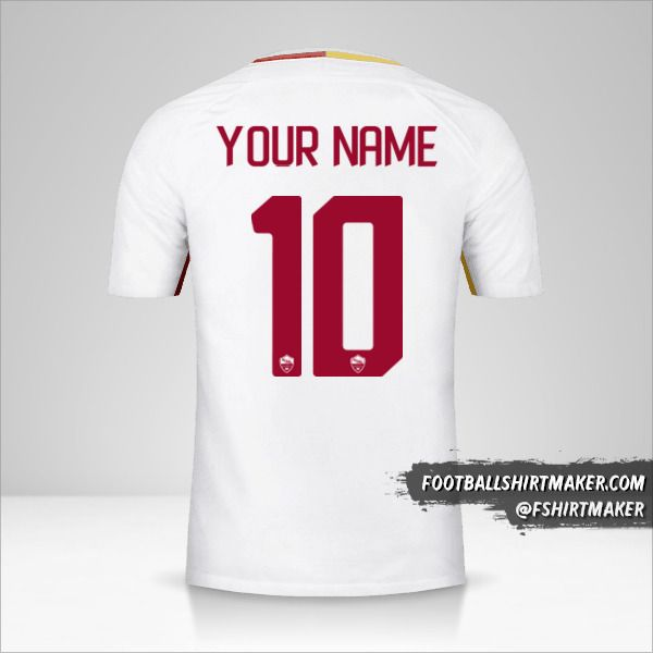 AS Roma 2017/18 II shirt number 10 your name