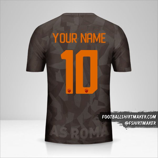 AS Roma 2017/18 III shirt number 10 your name