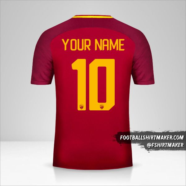 AS Roma 2017/18 shirt number 10 your name