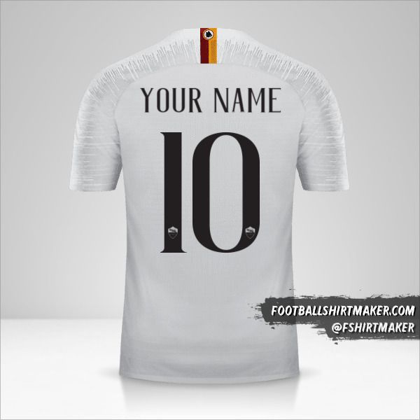 AS Roma 2018/19 II shirt number 10 your name