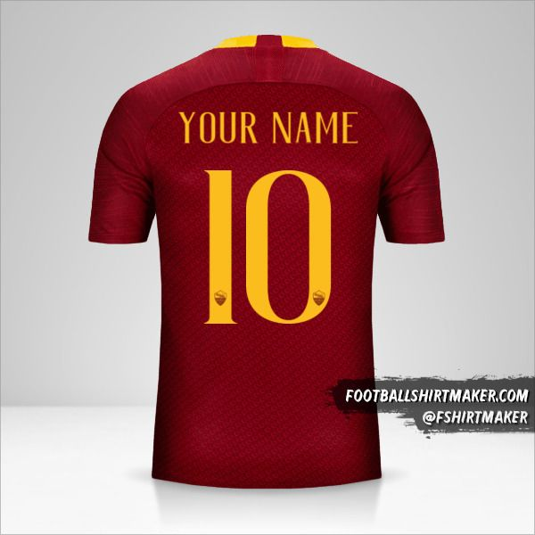 AS Roma 2018/19 shirt number 10 your name
