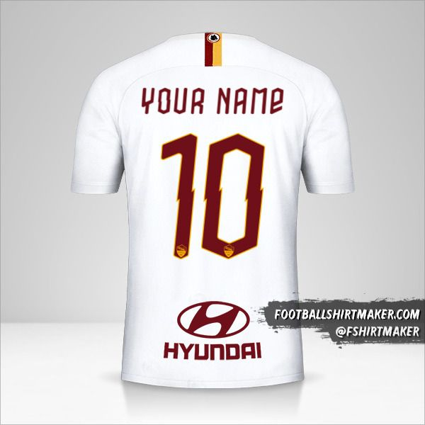 AS Roma 2019/20 II shirt number 10 your name