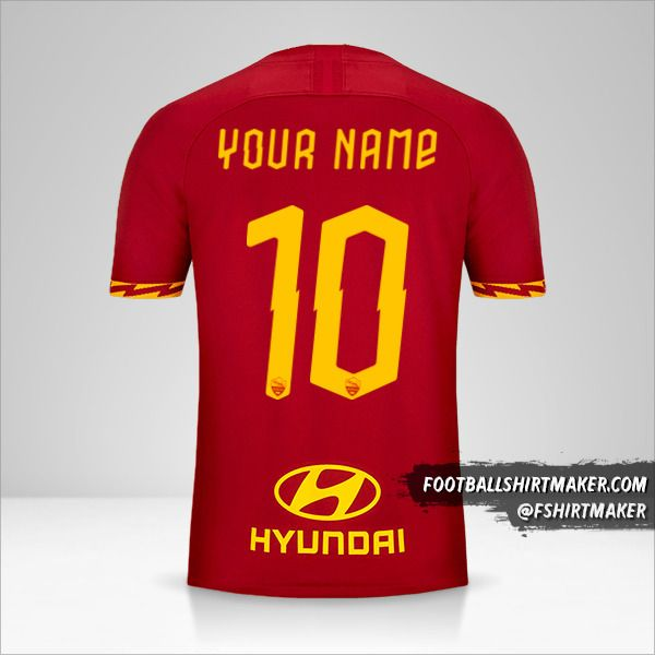 AS Roma 2019/20 shirt number 10 your name