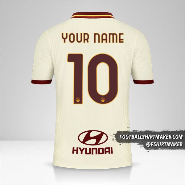 AS Roma 2020/21 II shirt number 10 your name