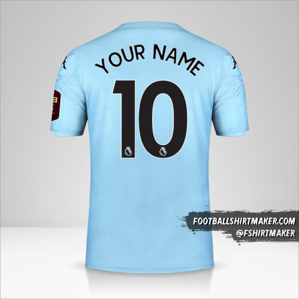 Aston Villa FC 2019/20 II shirt number 10 your name