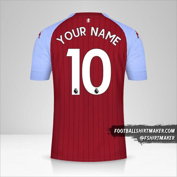Aston Villa FC 2020/21 shirt number 10 your name