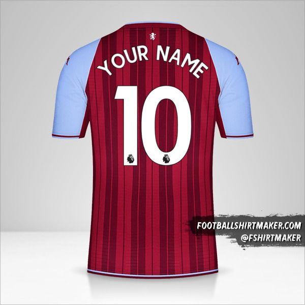 Aston Villa FC 2021/2022 shirt number 10 your name
