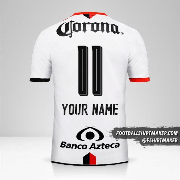 Atlas 2016/17 II shirt number 11 your name