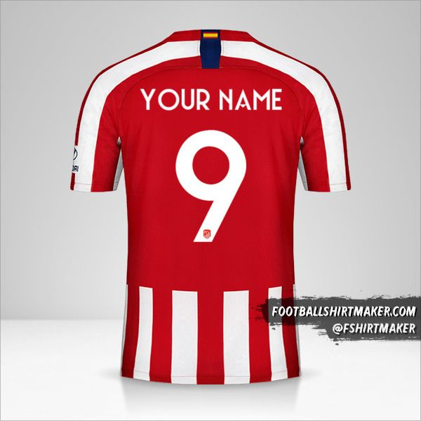 Atletico Madrid 2019/20 Cup shirt number 9 your name