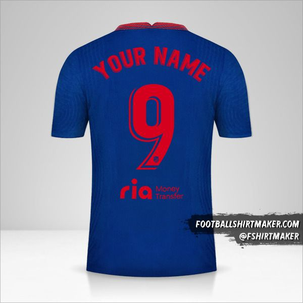 Atletico Madrid 2020/21 II shirt number 9 your name