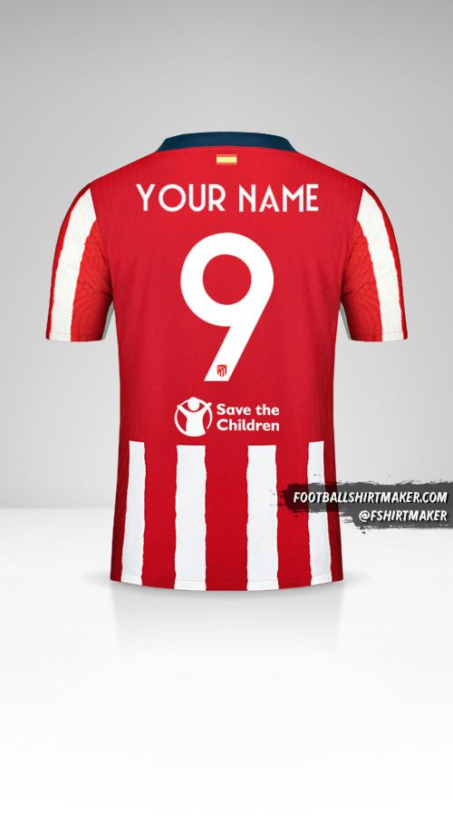 Atletico Madrid 2020/21 Cup shirt number 9 your name