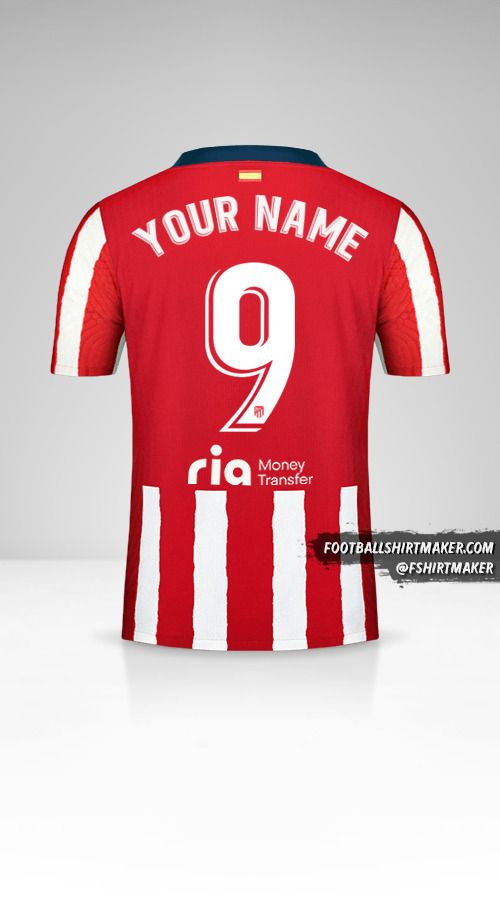 Atletico Madrid 2020/21 shirt number 9 your name