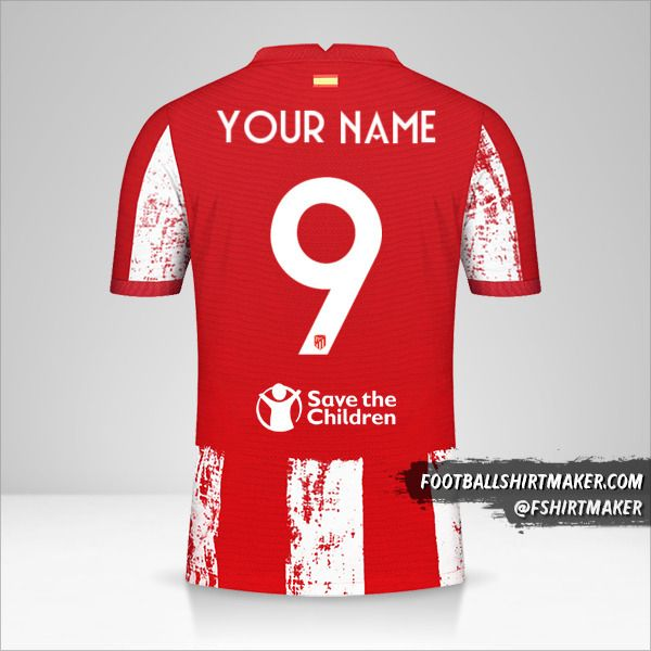 Atletico Madrid 2021/2022 Cup shirt number 9 your name