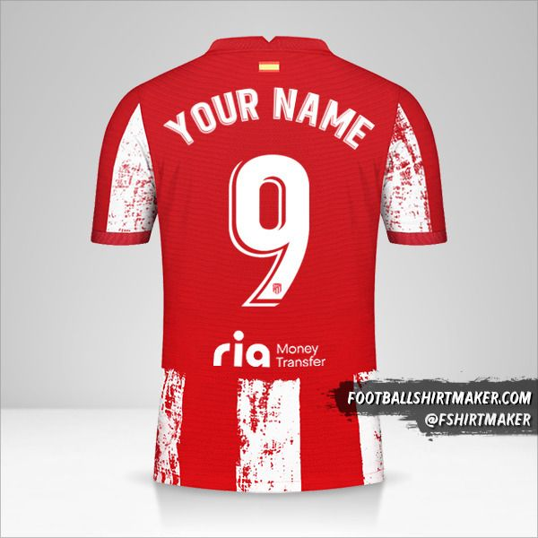 Atletico Madrid 2021/2022 shirt number 9 your name