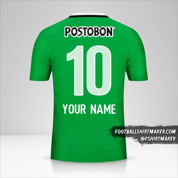 Atletico Nacional 2016 shirt number 10 your name