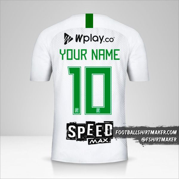 Atletico Nacional 2019 II shirt number 10 your name