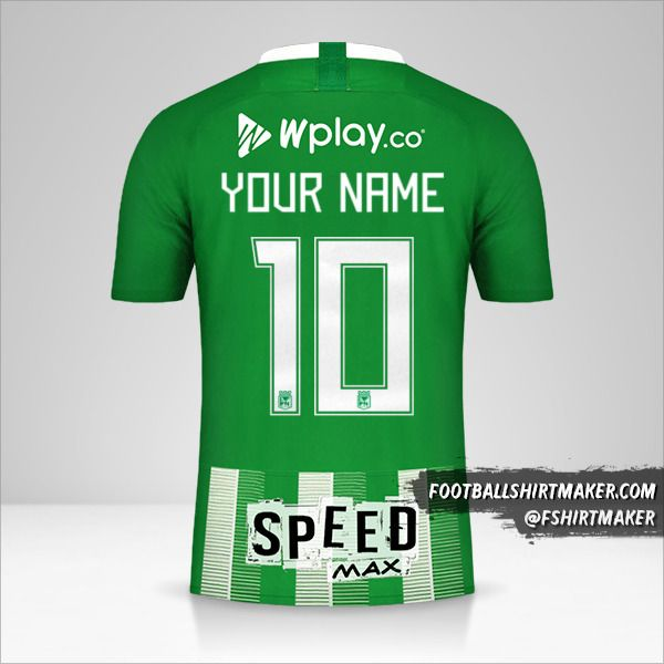 Atletico Nacional 2019 shirt number 10 your name