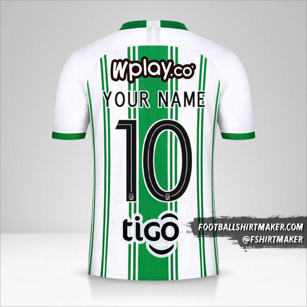 Atletico Nacional 2020 shirt number 10 your name