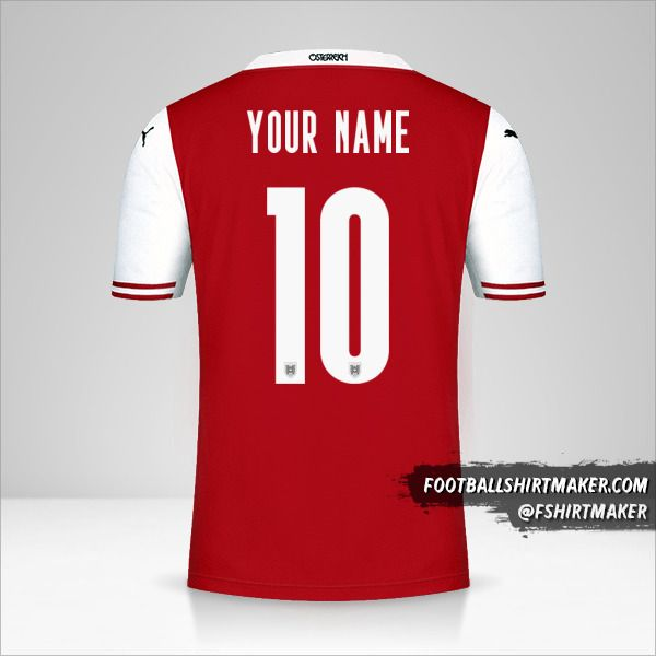 Austria 2020/2021 shirt number 10 your name