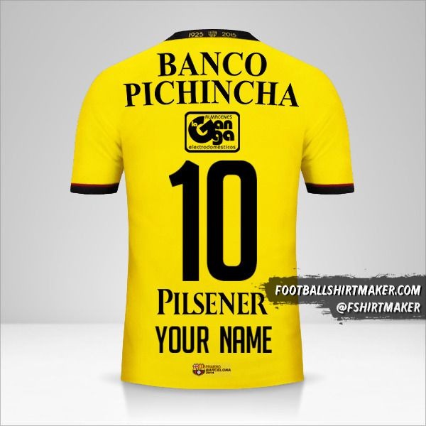 Barcelona SC shirt 2015 number 10 your name