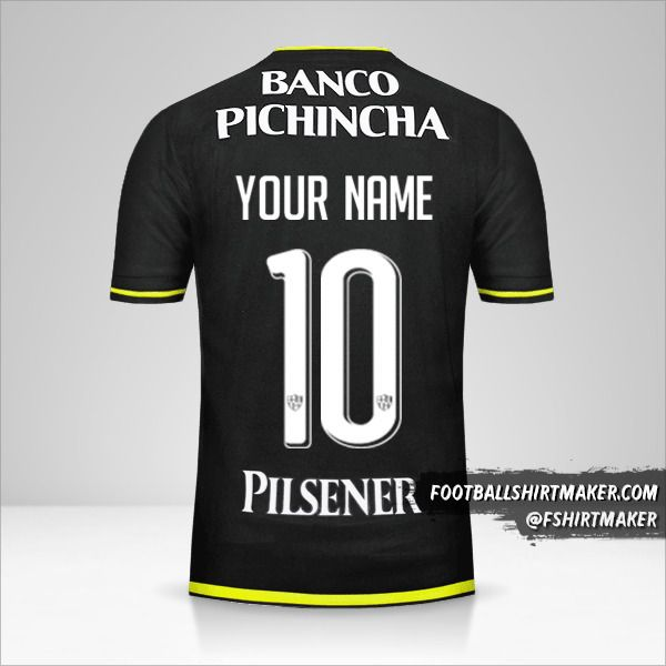 Barcelona SC 2016 II shirt number 10 your name