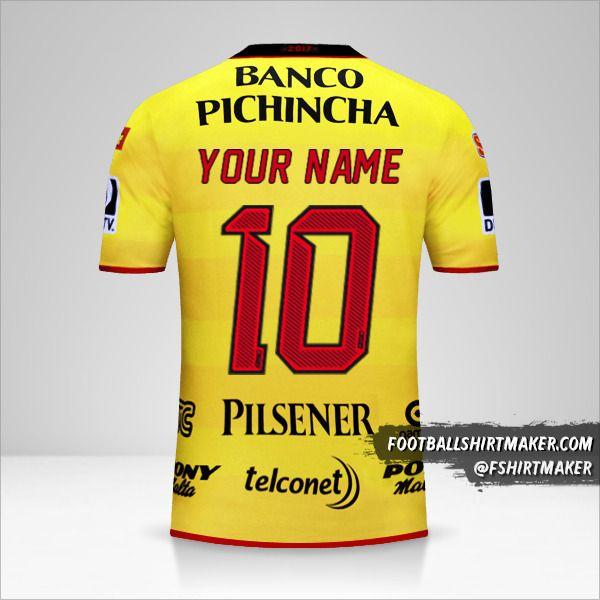 Barcelona SC shirt 2017 number 10 your name