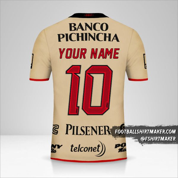 Barcelona SC shirt 92 Años number 10 your name