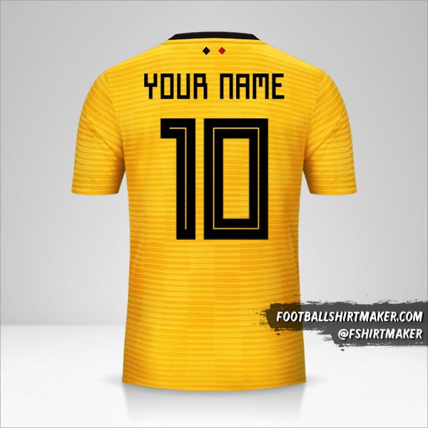 Belgium 2018 II shirt number 10 your name