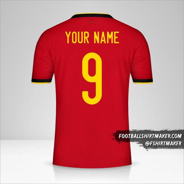 Belgium 2020/2021 shirt number 9 your name