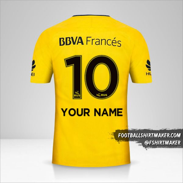 Boca Juniors 2017/18 II shirt number 10 your name
