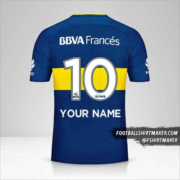 Boca Juniors 2017/18 shirt number 10 your name