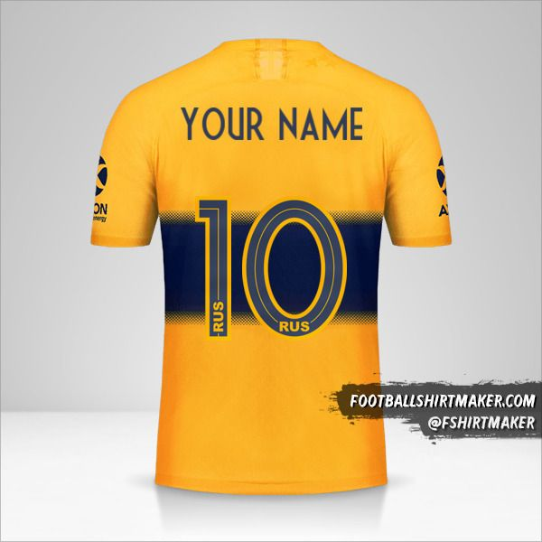 Boca Juniors 2019/20 II shirt number 10 your name