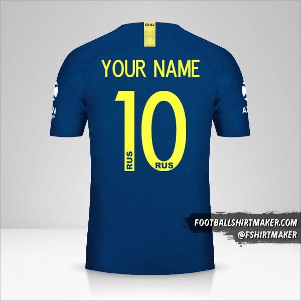 Boca Juniors Libertadores 2019 shirt number 10 your name